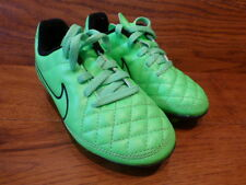 Boys Nike Tiempo Green Football Boots Size UK 10K EUR 27.5
