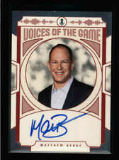 MATTHEW BERRY 2018 PANINI VOICES OF THE GAME AUTOGRAPH AUTO AX484