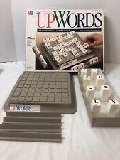 UpWords Cross Word Style Board Game 1988 Complete Upwards Milton Bradley