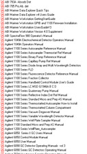 Lab Equipment Operational Manuals - Over 1000 various manuals  List updated 4/11