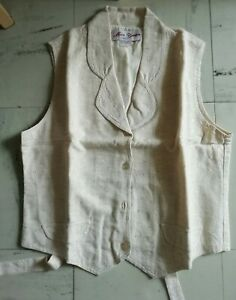 Chemisier/gilet Sans Manche Broderie Anglaise TAILLE 1 COMME NEUF