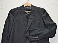 JAEGER -LONDON SMART ELEGANT BLACK PINSTRIPE SUIT JACKET/BLAZER UK 42L EU 52L