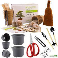 Bonsai Tree Kit. Grow 6 types seeds Gardening Gift Set plus Bonsai tools & pots