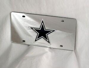 Dallas Cowboys NFL Logo Silver Mirror Look LASER License Plate