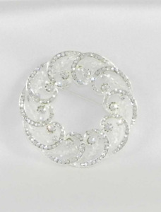 Your Dream Dress Exclusive 8SBR Silver Brooch Pin Bridal Jewelry Crystals Beads