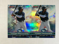 KYLE LEWIS LOT OF 2 2018 Bowman's Best Power Producers RC REFRACTOR INSERTS!