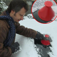 Car Windshield Round Cone Shaped Ice Scraper Funnel Car Remover Snow Cleaner Kit