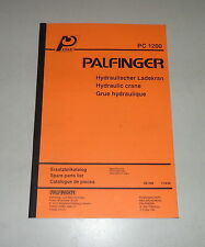 Teilekatalog / Spare Parts List Palfinger Krane PC 1200 Stand 09/1990