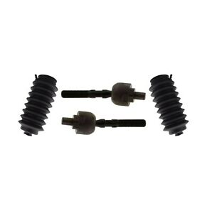 4 pc Suspension Kit for Acura RL TL Honda Prelude Inner Tie Rods Bellow Boots