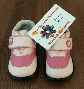 New Baby Shoes - Papush Shoes - Pink - Size 3 - 26 Months