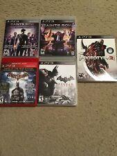 PS3 Open-World Game Lot- Prototype 2, Batman, Saints Row 3 and 4