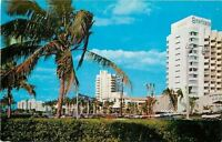 Miami Beach Florida~Looking North at Bal Harbour Americana~1957 Postcard