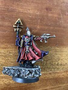 Warhammer 40k Eldar Aeldari Craftworlds Army OOP Metal Painted Warlock Farseer?