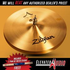 """Zildjian A 14"""" New Beat Hi-Hat Pair + FREE Vater Hickory Drum Sticks! Make Offer"""