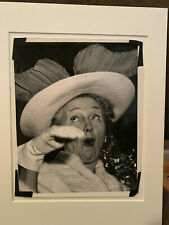 Weegee Photograph of Hedda Hopper, Stamped