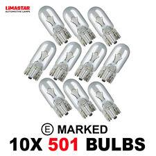 10 x Brand New 501 W5W T10 Side Light Capless BULBS 12v 5w 2825 GLB501 LLB501