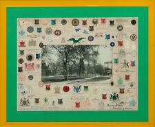Letterhead Crests Surrounding B&W Photo of Harvard Yard