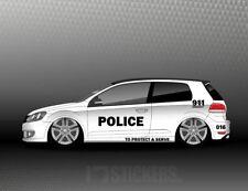 1x Aufkleber Set Police Car  Sticker US Polizei Style Folie Dekor COP  SD021