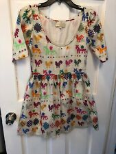 858bc27b Carolina K For Anthropologie Folkloric Animals Cotton Lined Dress Tunic S