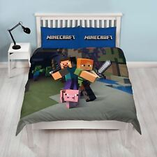 MINECRAFT DOUBLE DUVET COVER SET NEW OFFICIAL
