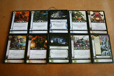 Warhammer 40k Horus Heresy CCG Daemons Fire Uncommon cards - 5 cards per lot