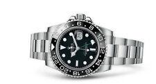 GMT Rolex Armbanduhren mit Edelstahl-Armband Master II
