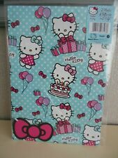 Hello Kitty hoja de envoltura de regalo x 2 Plus 2 etiquetas Disney 50cm X 69.5cm Papel De Embalaje