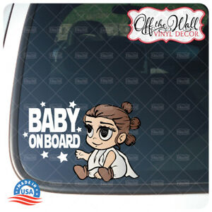 """Baby Rey Character """"Baby, Kid, or Kids on Board"""" BUYERS CHOICE - Sign"""