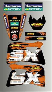KTM SX 50 GRAPHICS KIT STICKERS DECALS SET 1998 - 2001