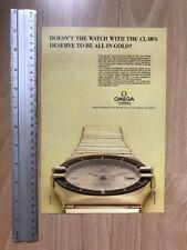 Omega Constellation Quartz 1984 Advertisement Pub Ad Werbung