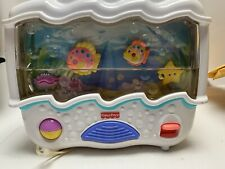 2002 Fisher Price Ocean Wonders Aquarium Sounds Lights Crib Soother - Low