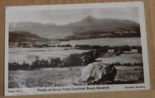 Postcard Peaks Of Arran from Lamlash Road Brodick Real photo  Scotland