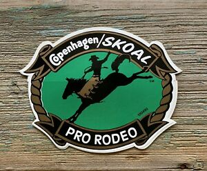 COPENHAGEN/SKOAL PRO-RODEO BACK ADHESIVE DECAL PRCA PROMOTIONAL ITEM