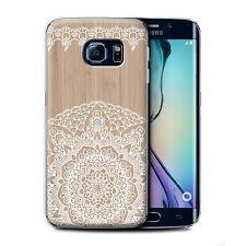 STUFF4 Case/Cover for Samsung Galaxy S6 Edge/Fine Lace Wood/Bamboo Mandala