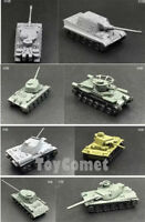 8 pcs WWII Military Army Battle Tank 4D Assembled Model Kit 1:144 Scale