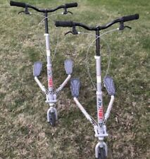 One trikke T67S 3 Wheel Scooter Folding Carving gray trike pair set y shape