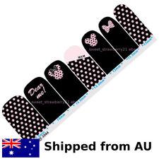 DISNEY MINNIE & MICKEY mouse nail wraps full cover black pink polka dot sticker