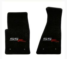 NEW! BLACK FRONT FLOOR MATS 2003-2004 CHEVY SSR EMBROIDERED LOGO ON BOTH