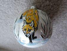 Polcraft Polish Handmade Glass Christmas Ornament Made in Poland Fox Trees Snow