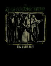 ALICE COOPER cd lgo LOVE IT TO DEATH US TOUR 1971 Official SHIRT LRG new