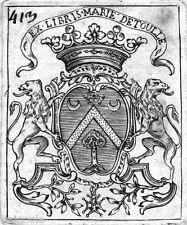 EX-LIBRIS d'Isidore MARIÉ DE TOULLE. Berry - Picardie.