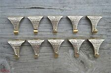 Conjunto de 10 Estilo antiguo Latón macizo Carril de imágenes de acanto Ganchos Gancho PRH1