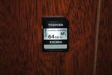 TOSHIBA EXCERIA 64GB SD SDXC UHS-I U3 Class 10  R 95MB W 60MB MEMORY CARD 64G