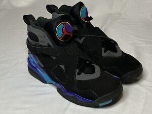 "Nike Air Jordan 8 Retro ""Aqua"" GS Size 5Y Women's Size 6.5 305368-025 READ"
