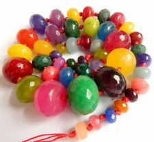 Semi Precious Stone Graduated Faceted Rondell Beads for Necklace making