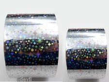 NEU Nageldesign Transfer Folie Silber Nail Art Größe 55cm x 4cm