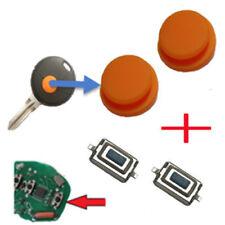 Für 2x Smart 450 Schlüssel Funkschlüssel Gummi + 2x Taster Mikroschalter