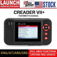 LAUNCH VII+ Automotive OBD2 Scanner ABS SRS Engine Transmission Diagnostic Tool