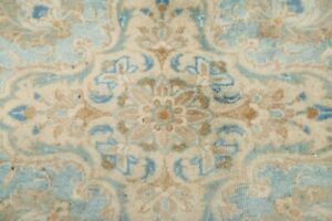 Antique MUTED Floral Distressed Area Rug Hand-Knotted Oriental Wool Carpet 10x13