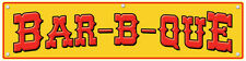 "18"" x 72"" - Bar-B-Que - Concession Banner - Yellow"